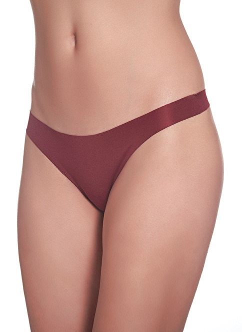 Sevim 2'li Smooth Tanga Bordo